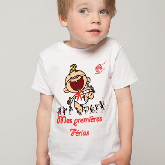 t-shirt Mes premières férias bébé (coupe mixte)