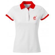 Polo Culture féria col rouge Femme