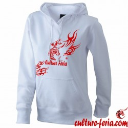 sweat-shirt femme culture feria blanc