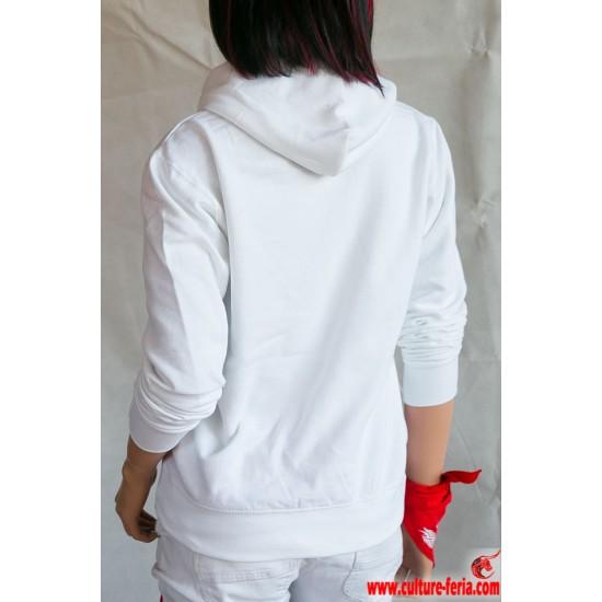 sweat-shirt femme culture feria blanc