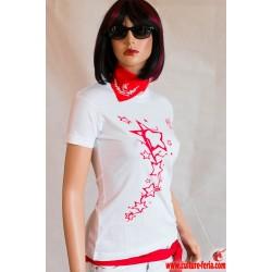 t-shirt festayre star  blanc