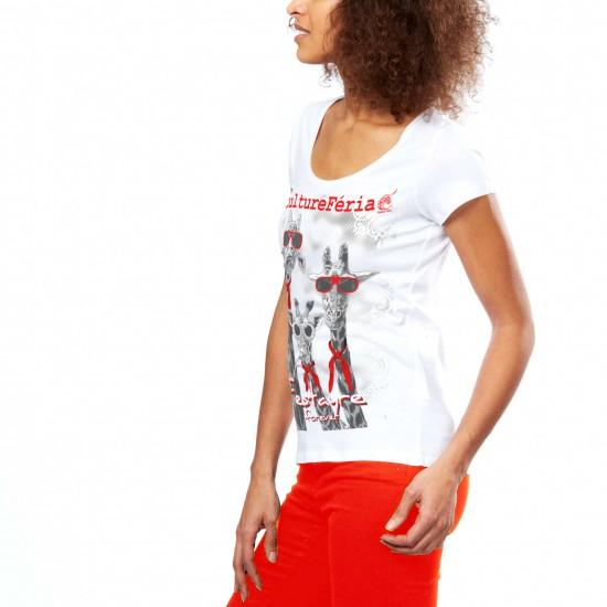 T-shirt des Trois girafes femme