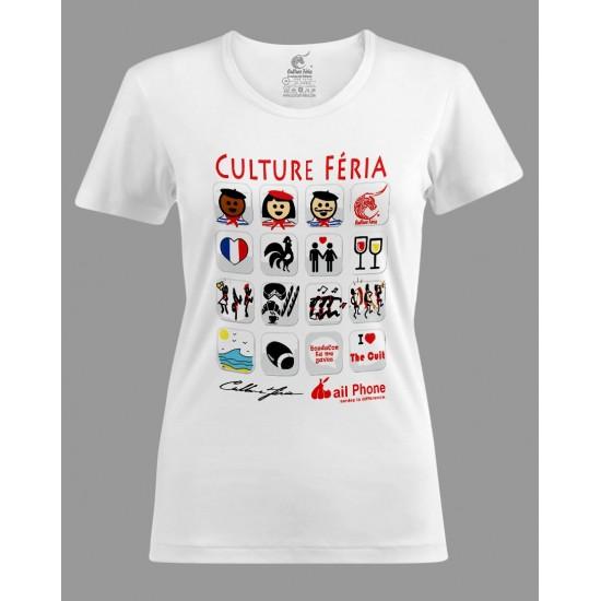 T-shirt I-féria femme blanc