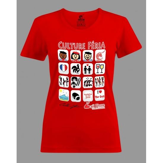 T-shirt I-féria femme rouge