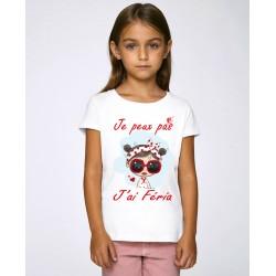 T-shirt je peux pas j'ai féria  enfant