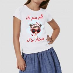 T-shirt je peux pas j'ai féria bébé