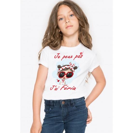 T-shirt je peux pas j'ai féria  ados