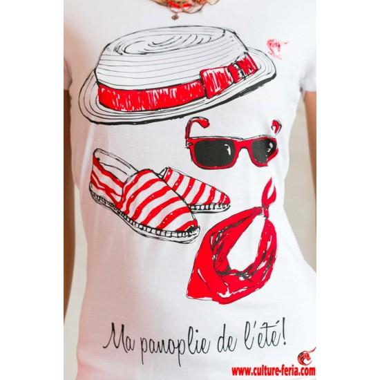 T-shirt Ma panoplie de l'été femme