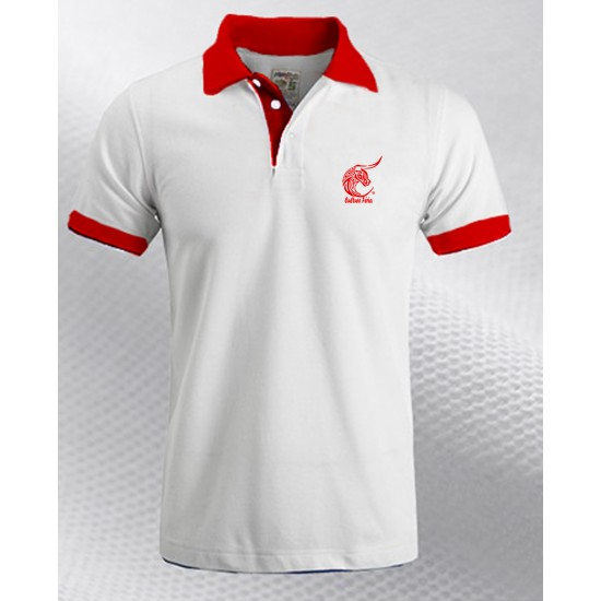 Polo Culture féria col rouge Homme