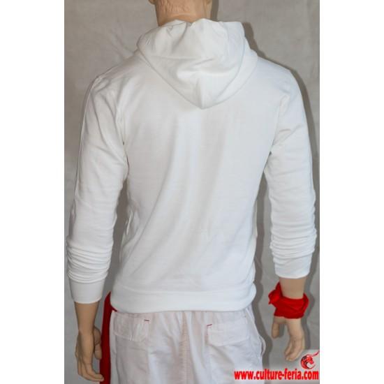 sweat-shirt homme-culture feria blanc