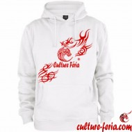 sweat-shirt homme-culture feria blanc