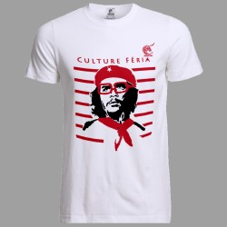 t-shirt festayre Che Guevara blanc
