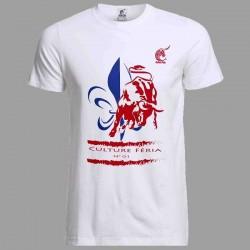 t-shirt frenchie blanc