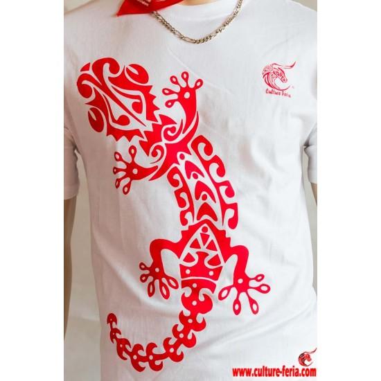 t-shirt feria salamandre blanc