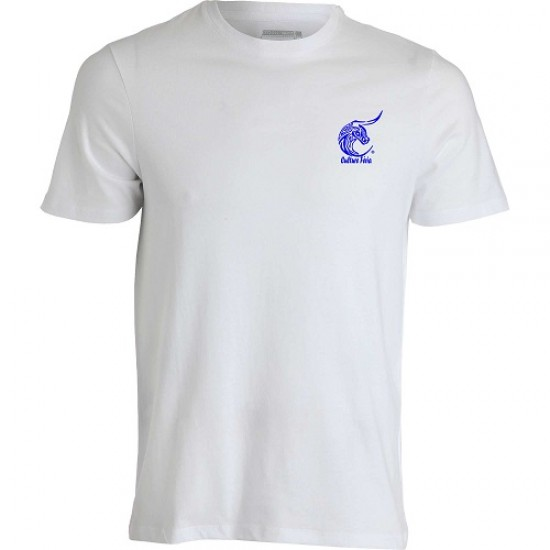 t-shirt feria blanc logo bleu