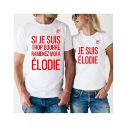 T-shirt personnalisé couple